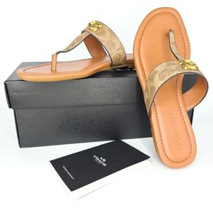 New Coach JESSI Signature Brown Sandals Sz 8